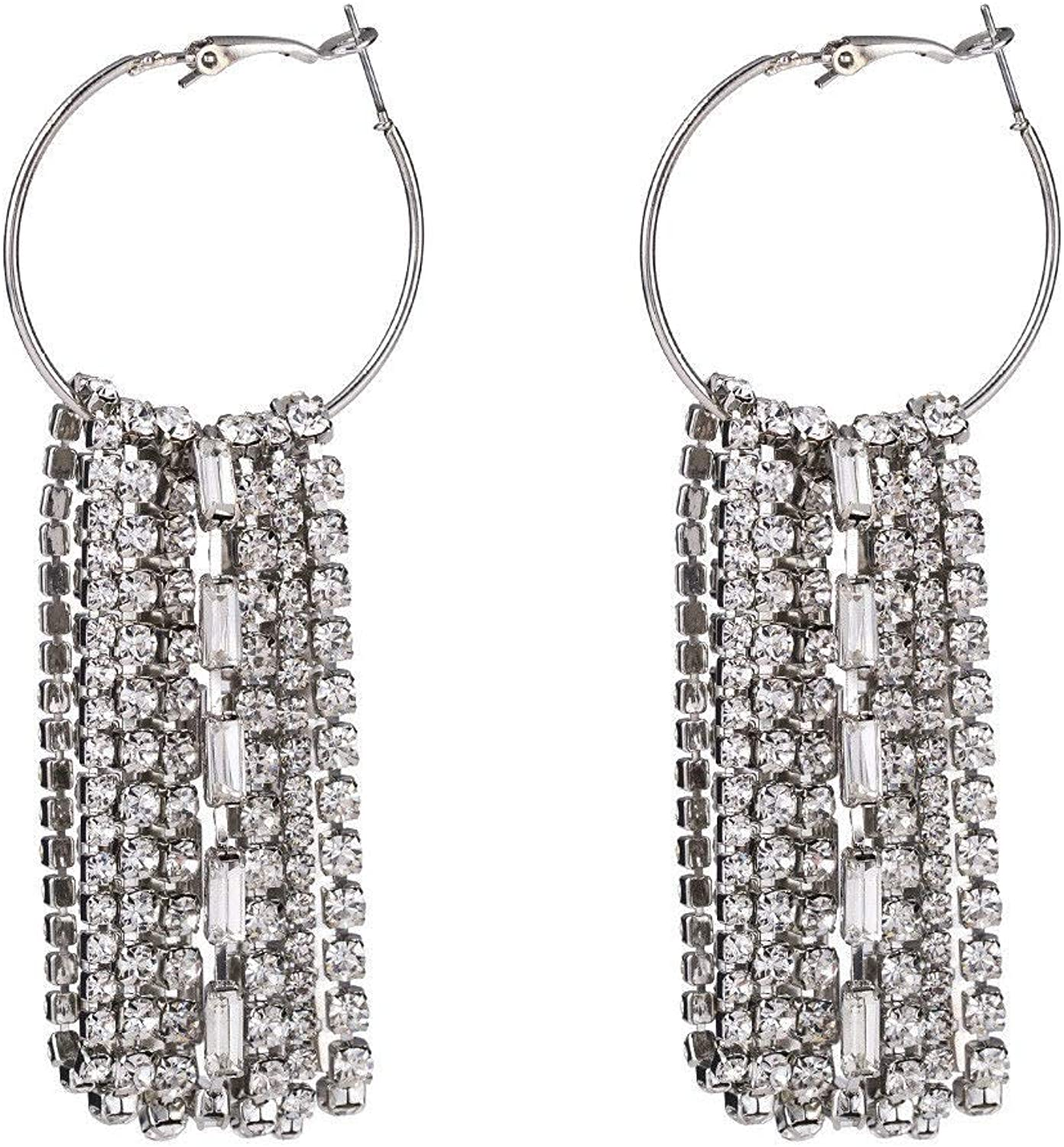 Dana Carrie Europe, the United States exaggerated Ear Clip exaggerated alloy chain ear fall into the metal texture earrings ears