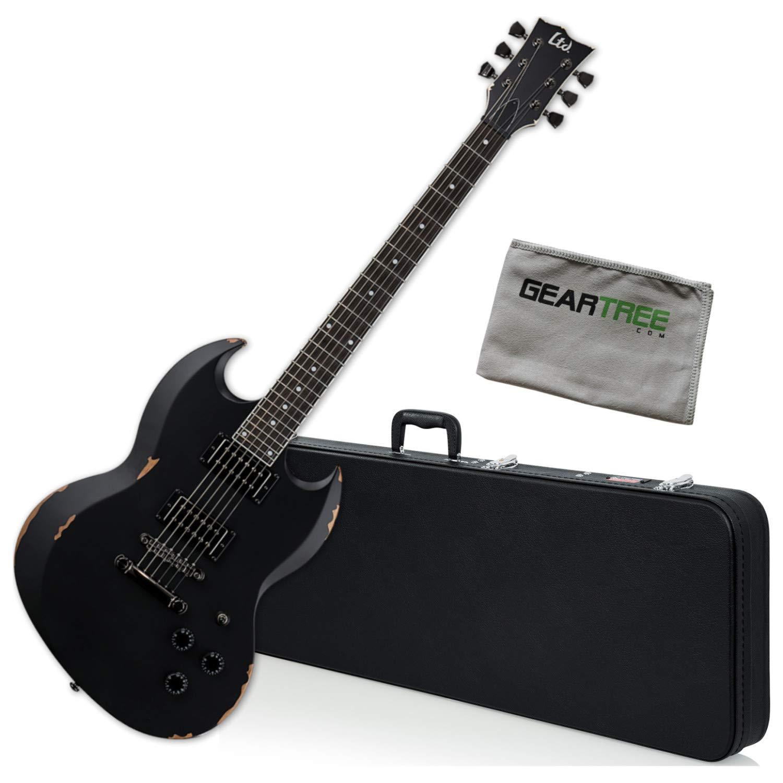 Cheap ESP LTD VOLSUNG Distressed Black Lars Fredriksen Electric Guitar Bundle w/Case a Black Friday & Cyber Monday 2019