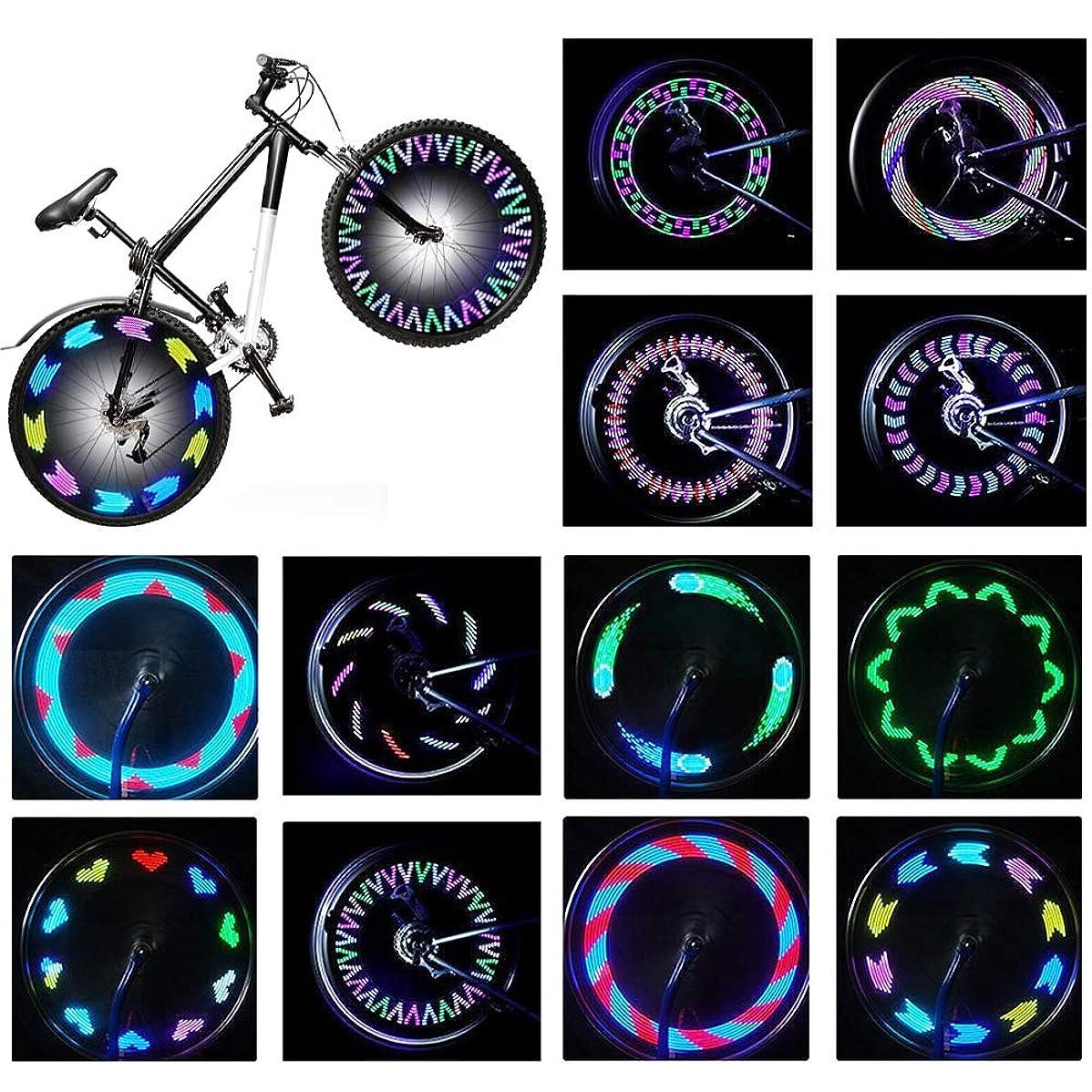 枢機卿取り出す材料Rottayバイクホイールライト、自転車ホイールライト防水RGB超明るいスポークライト14-LED 30pcs変更パターン-Safetyクールバイクタイヤアクセサリーキッズ大人から見える - あらゆる角度から(2パック)