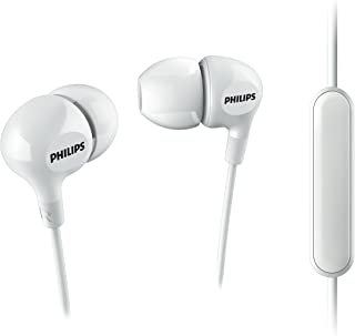 Philips Big Bass in Ear Headphones with Mic - White (SHE3555WT/27)