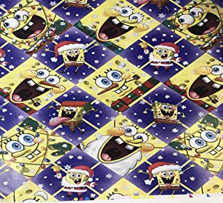 Christmas Gift Wrap Sponge Bob Square Pants Kids Wrapping Paper 1 Roll 7 Yards