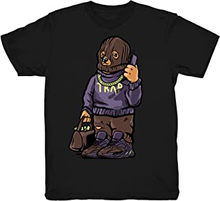 Mauve 700 Kanye Trap Bear Shirt to Match Yeezy Boost 700 Mauve Sneakers Black t-Shirts