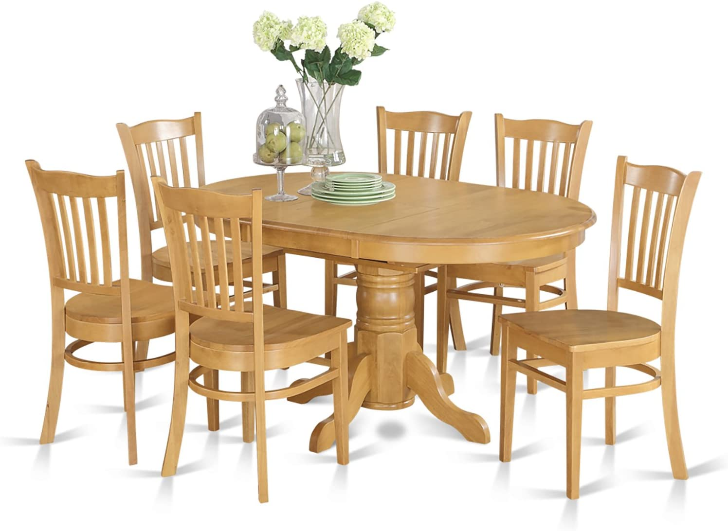 Buy East West Furniture Dinette set 9 Fantastic wood dining chairs ...