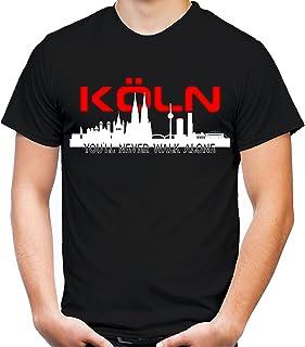 Köln Skyline Männer und Herren T-Shirt | Fussball Ultras C