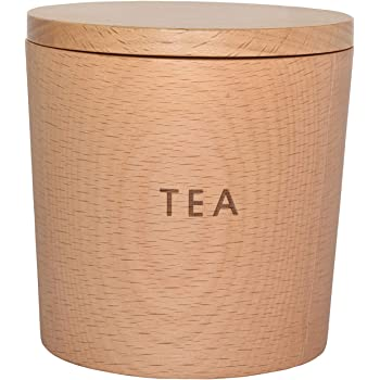 籐芸 TOUGEI 木のキャニスター (ティー 茶) 250ml 木製 保存容器 茶葉入れ
