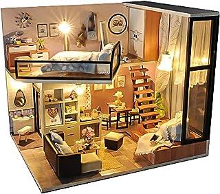 (リトルスワロー) LtSw DIY 手作り ミニチュア ドールハウス 2階 メゾネット 北欧風 モダン ルーム 初心者 中級者 上級者 誰でも楽しめる LED リアル かわいい プレゼント 木製 子供 大人 趣味 おもちゃ (北欧ロマン モダン)