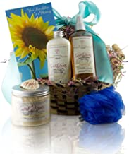 Castle Baths - Friendship Gift Basket with Handmade Natural Luxury Sweet Dreams Soothing Vanilla Lavender Aromatherapy Bath and Spa Products for the Soul