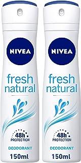 NIVEA Fresh Natural, Deodorant for Women, 2 x 150 ml