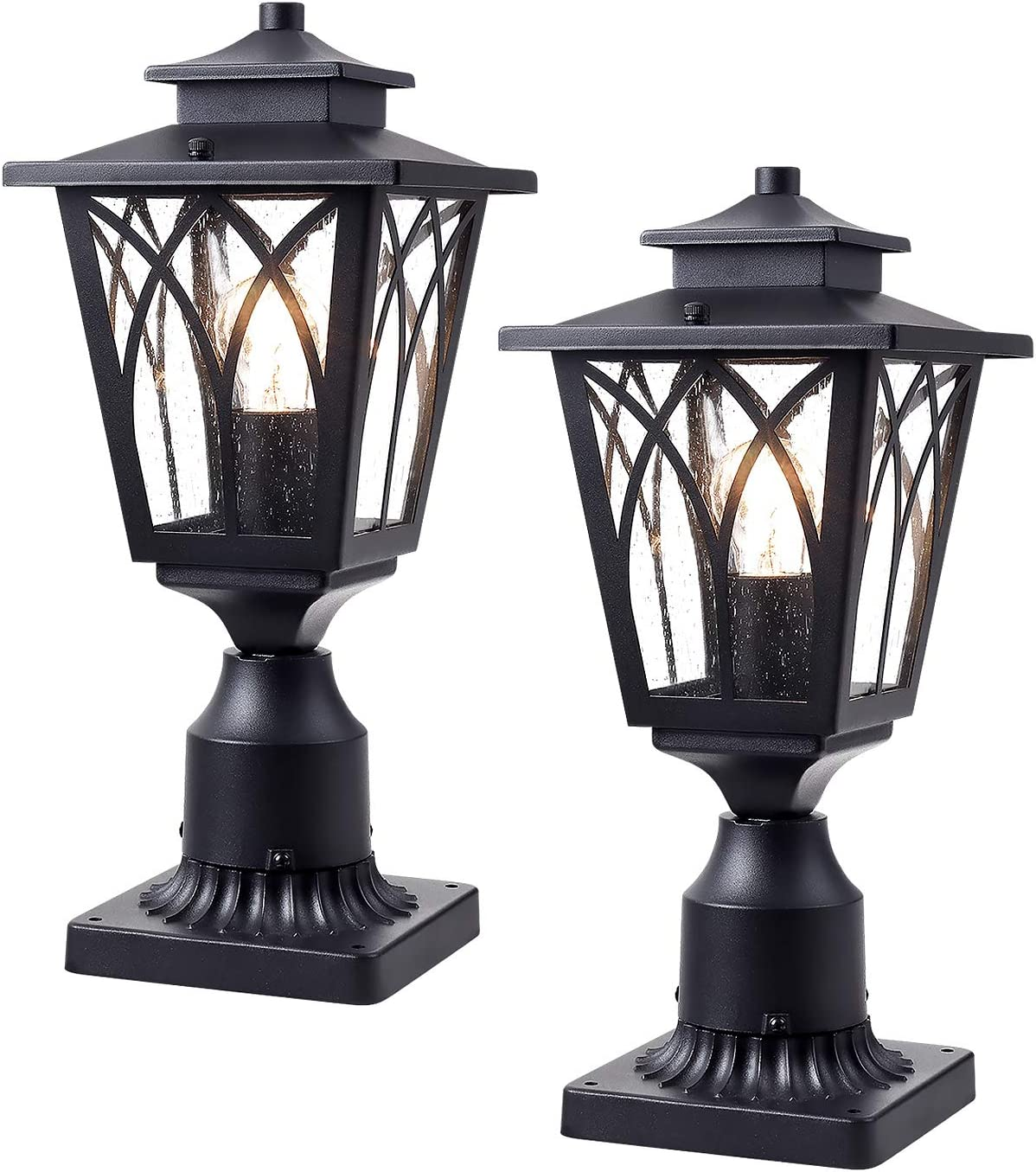 JAZAVA Outdoor Post Max 40% OFF Light Exterior Fixtures Fashion Tulip Lantern