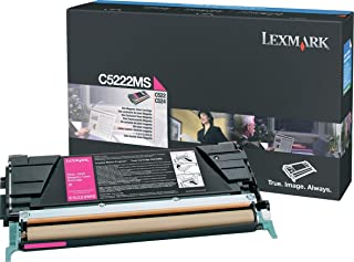 Lexmark C5220MS Return program laser toner for lexmark c522/c524/c530/c532/c534, 3k yld, magenta