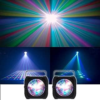 (2) American DJ ADJ REVO 4 IR RGBW LED DMX DJ/Club Lights Moonflower Effect REVO4 IR With 256 Beams and 3 Operation Modes