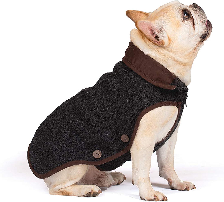 Dog Gone Smart Nano Knit Sweater, Grey, 22