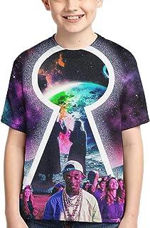 QYMENGYI Lil-Uzi Vert Shirt for Boys Girls Short Sleeve T-Shirts Top Tees Crewneck Casual Black