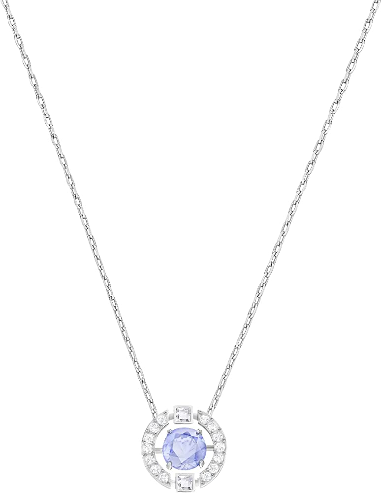 Swarovski  sparkling dance,collana per donna con pendente placcata rodio 5279425