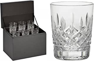 Waterford Lismore Double Old Fashioned Glasses, Deluxe Gift Box Set of 6 DOF Glasses