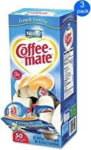 Nestle Coffee-mate Liquid Creamer Tubs, French Vanilla 3-pack; 50 Count Each.