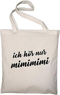 Styletex23 Ich Höre Nur Mimimi Fun Jutebeutel Baumwolltasche, natur