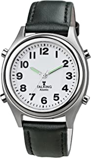 Atomic! Talking Wrist Watch w/Alarm,Speaks Time, Day,Date & Year