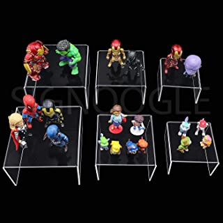 SIGNOOGLE Acrylic Cute Jewelry Show Case Display Stand Functional Shoe Storage Racks Cosmetics Holder for Exhibition 3mm T...