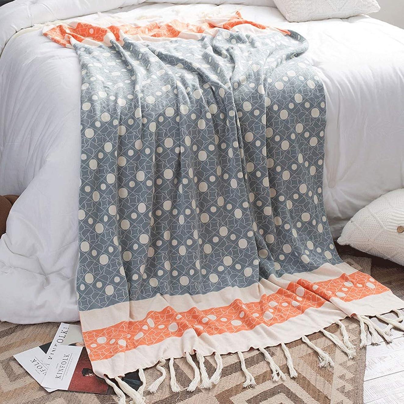 マサッチョ一次複数多機能 ソファー ブランケット 130センチ×180センチソフトコットンニット投球毛布ソファソファの装飾毛布多機能レジャー毛布昼寝毛布旅行毛布 (Color : Blue, Size : 130cmx180cm)