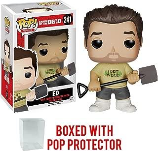 Funko Pop! Movie: Shaun of The Dead - Ed Vinyl Figure (Bundled with Pop Box Protector CASE)