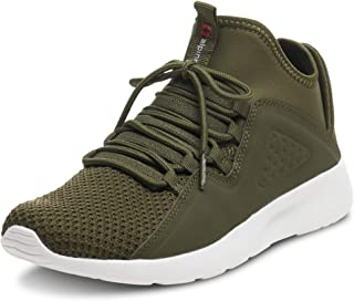 Mens Fashion Sneakers Lightweight Knit Tennis Shoes Olive 10 M US