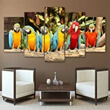 YHEGV In Canvas Prints Print Painting Canvas Poster 5 Panel Colorful Birds Wall Art For Living Room Home Decor Artwork-B1 Unframed
