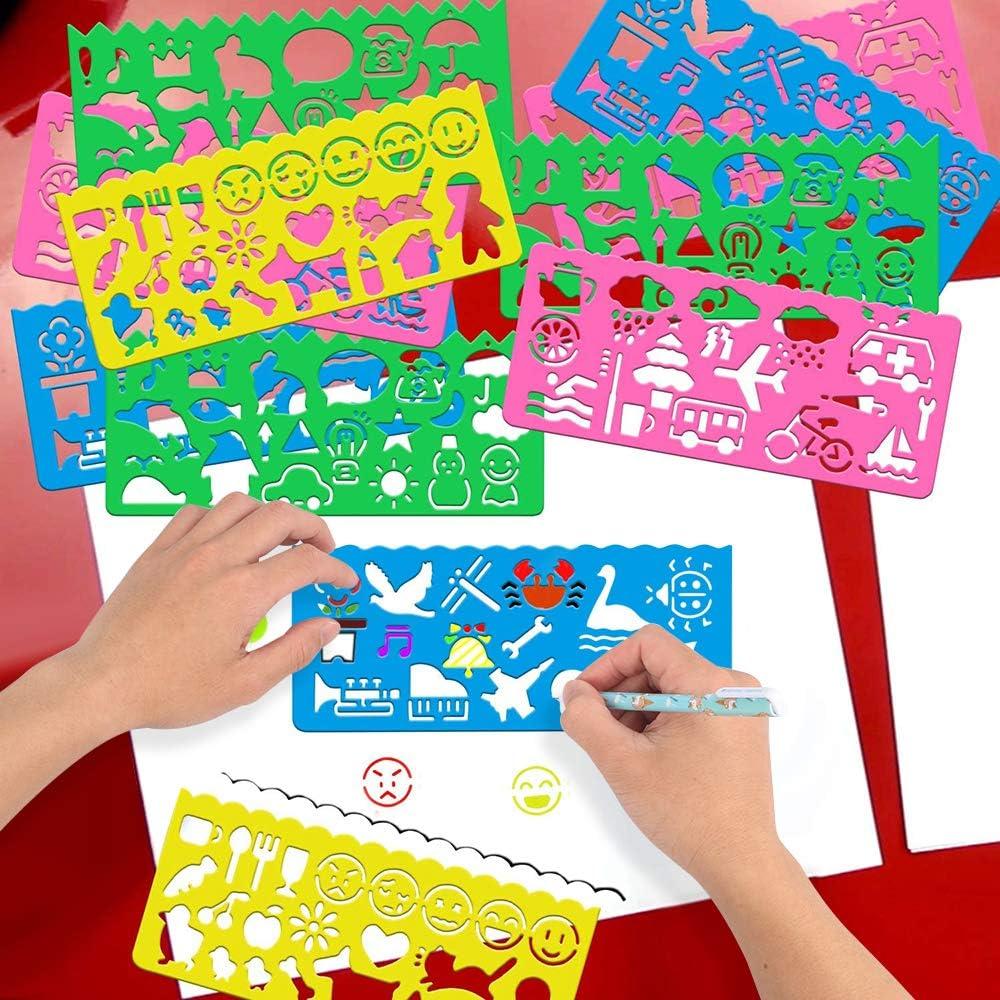 4 5 6 7 8 9 10 11 12 A/ños P/úrpura Estuche para L/ápices Unicornio Suministros Escolares para Ni/ñas Cuaderno Plantillas de Dibujo Pegatinas MMTX Papeler/ía de Unicornio para Ni/ñas Bol/ígrafos