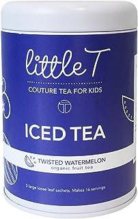 LITTLE T Kids Tea - Twisted Watermelon Tin - Organic Herbal Tea (Iced) for Kids | Sugar-Free | Caffeine-Free | Antioxidant...