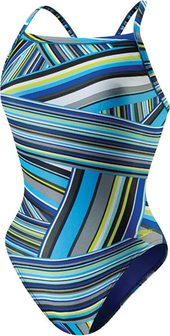 Speedo Women's Sale item Portland Mall Rainbow Flyback Stripe Swimsuit