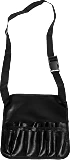Beautyflier Professional 12 Pockets Makeup Brush Bag PU Cosmetic Waist Pouch with Artist Belt Strap