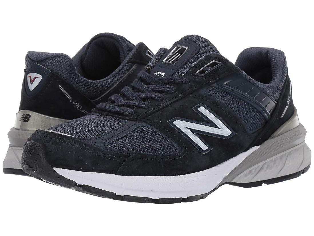 [ニューバランス] レディースランニングシューズ?スニーカー?靴 990v5 Navy/Silver 5.5 (22.5cm) EE - Extra Wide [並行輸入品]