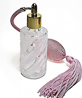 Cologne Perfume Empty Crystal Glass Refillable Bottle with Bulb Atomizer Sprayer