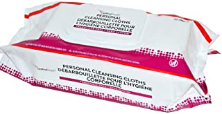 Cardinal Health 2AWU-96 Personal Cleansing Wipe, Non-Flushable, Fragrance Free, 9 X 13IN, 96 Count (1 case of 6 paks-- tot...