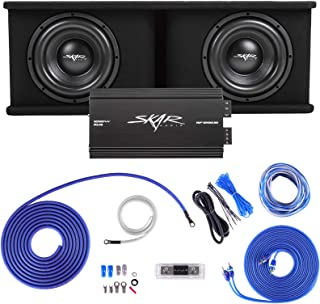 """$509 » Skar Audio Dual 10"""" Complete 2,400 Watt SDR Series Subwoofer Bass Package - Includes Loaded Enclosure with Amplifier"""
