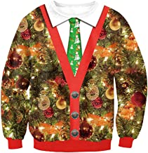 Kulywon Ugly Christmas Sweater Women Girls Xmas Reindeer Pullover Sweater
