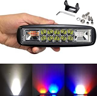 Led Light Bar 6 Inch SUFEMOTEC Led Flashing Warning Light Motorcycle For 4x4 Offroad Trucks Cars ATV 4WD SUV Strobe Led Driving Lights Red & Blue