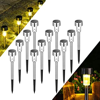 Solpex Solar Lights Outdoor Pathway,12 Pack Solar Walkway Lights Outdoor,Garden Led Lights for Landscape/Patio/Lawn/Yard/D...