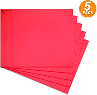Emraw Poster Board Lightweight Craft Backing Boards for Presentations Office Sign Blank Painting Board Smooth Surface Poster Sheets for School Pack of 5 (Fluorescent Fuschia)