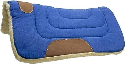 """قص حواف المصنوعة من القماش الكتاني Western وسادة سرج حصان بواسطة Tahoe, blue, 23"""" x 23"""""""