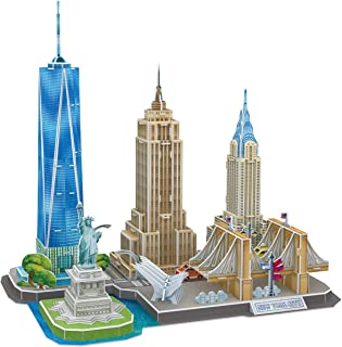 CubicFun 3D Puzzles for Adults Newyork Cityline Architecture Building Model Kits Collection Toys Gift Keepsake for Men and...