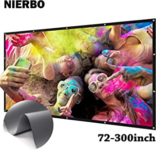 NIERBO 100 inch Metal Projector Screen Ambient Light Rejecting 2.4 Gain 3D Movies Screen 16:9 for Home Theater - Rolling up