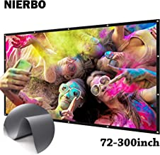 NIERBO 150 inch Metal Projector Screen Ambient Light Rejecting Screen 2.4 Gain 3D Movies Screen 16:9 for Home Theater
