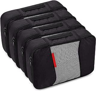Travel Packing Cubes Luggage Organizers (4 Medium Black)