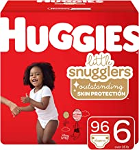 Huggies Little Snugglers Baby Diapers, Size 6 (35+ lb.), 96 Ct, Economy Plus Pack (Packaging May Vary)
