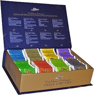 Valdena Bio Organic Tea Line sampler, Gift Box 64 Tea Bags, 8 Beneficial Flavors of Herbal & Unique Teas in Variety Pack