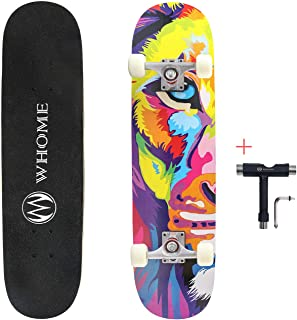 WHOME Pro Skateboard Complete for Adult Youth Kid and Beginner - 31