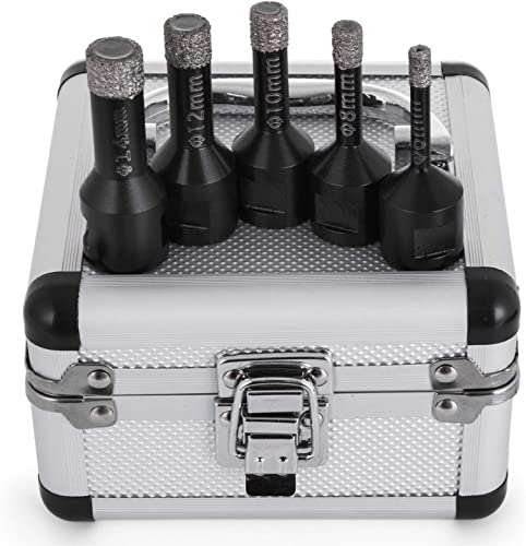 lowest Mophorn 5 PCS Diamond Hole Saw M14 6/8/10/12/14 mm Diamond Drill Bit Set 0.24/0.31/0.39/0.47/0.55 Inch for Granite Fine Stoneware new arrival and online Tiles outlet online sale