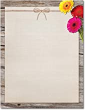 Three Gerber Daisies Stationery Paper - 80 Sheets
