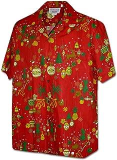 Hawaiian Christmas Ornaments Men's Aloha Shirt